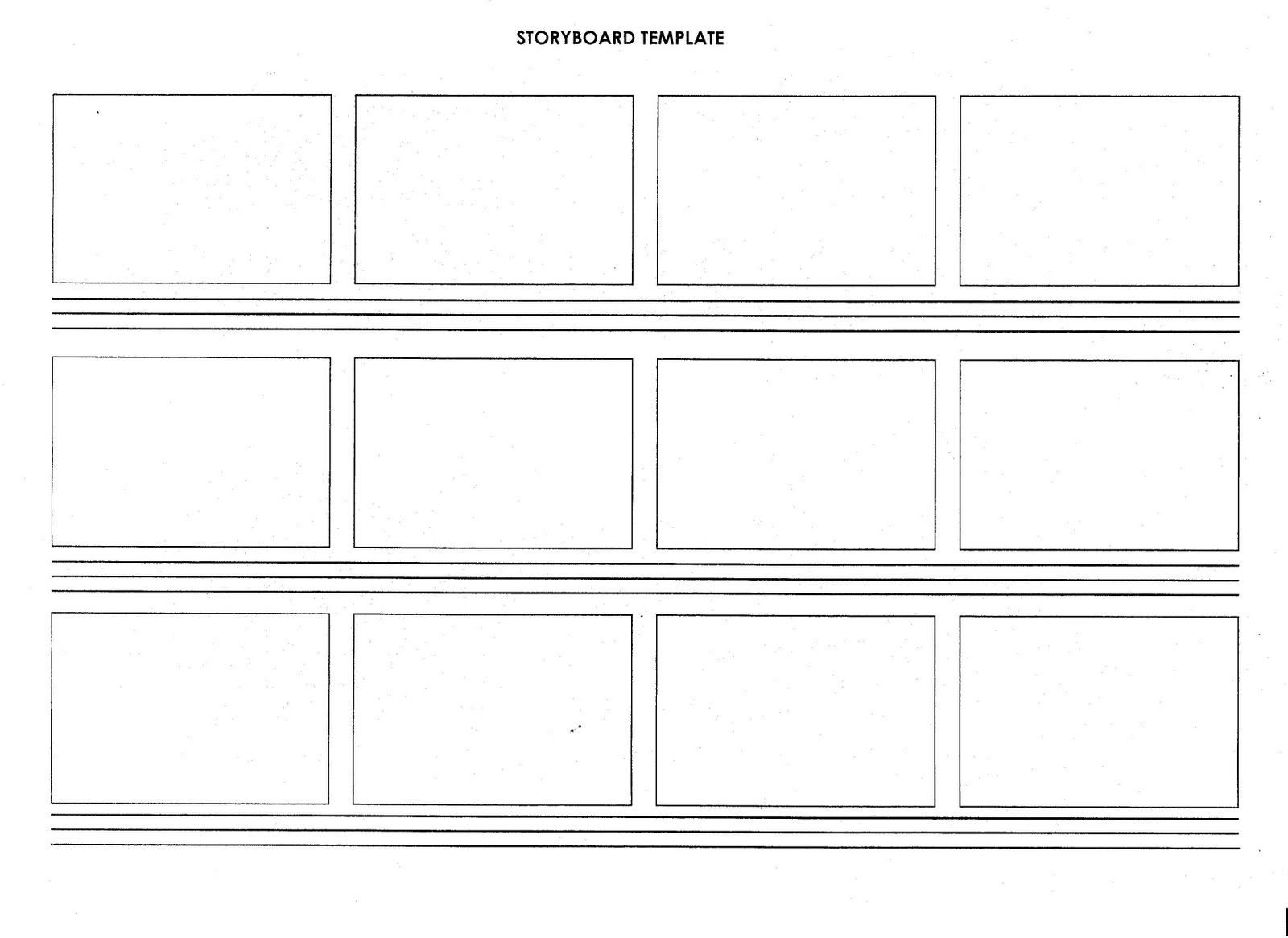 2011 2012 A2 Media Storyboard Template And Script Example