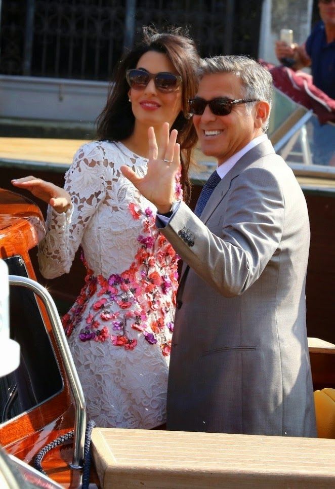 Amal Alamuddin out in Venice