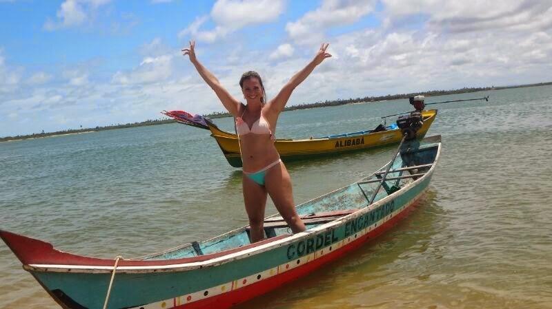 Gosto do sol, do rio e do mar... e do encontro do rio com o mar!
