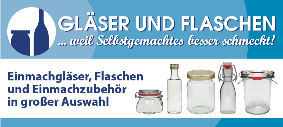 Und wo bekomme ich Glser und Flaschen?