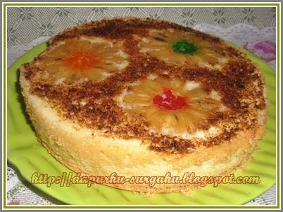 Olahan Nanas, Resep Bolu Dari Nanas, Cake Tanpa Pengembang Tambahan, Cake Tanpa Margarin Dan Mentega, Cake Nanas Bumbu Rempah