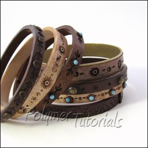 Faux Leather Bracelets Tutorial