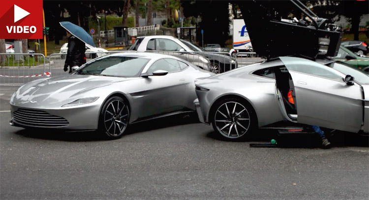 Wonderful Quartet Of Aston Martin DB10s Spotted Filming For Spectre