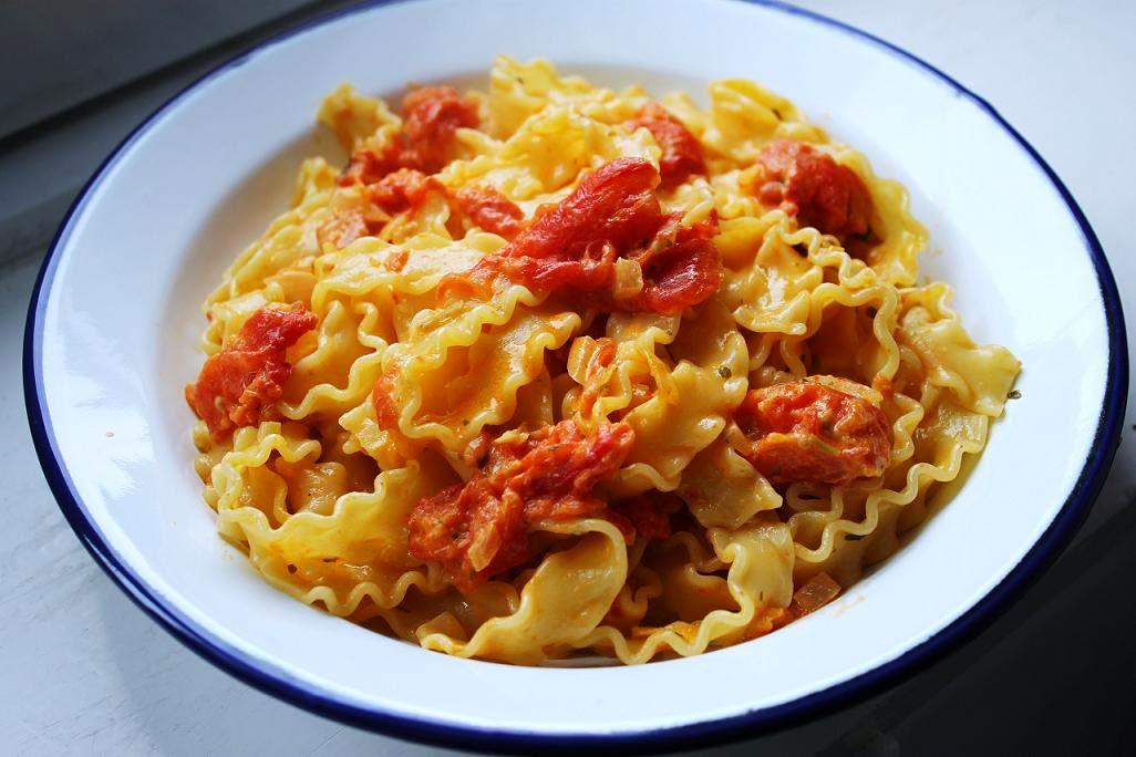 Pasta mit ofengeröstete Tomaten