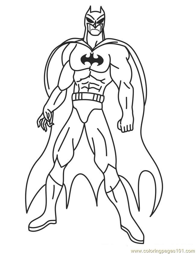 printable super hero coloring pages - photo#3