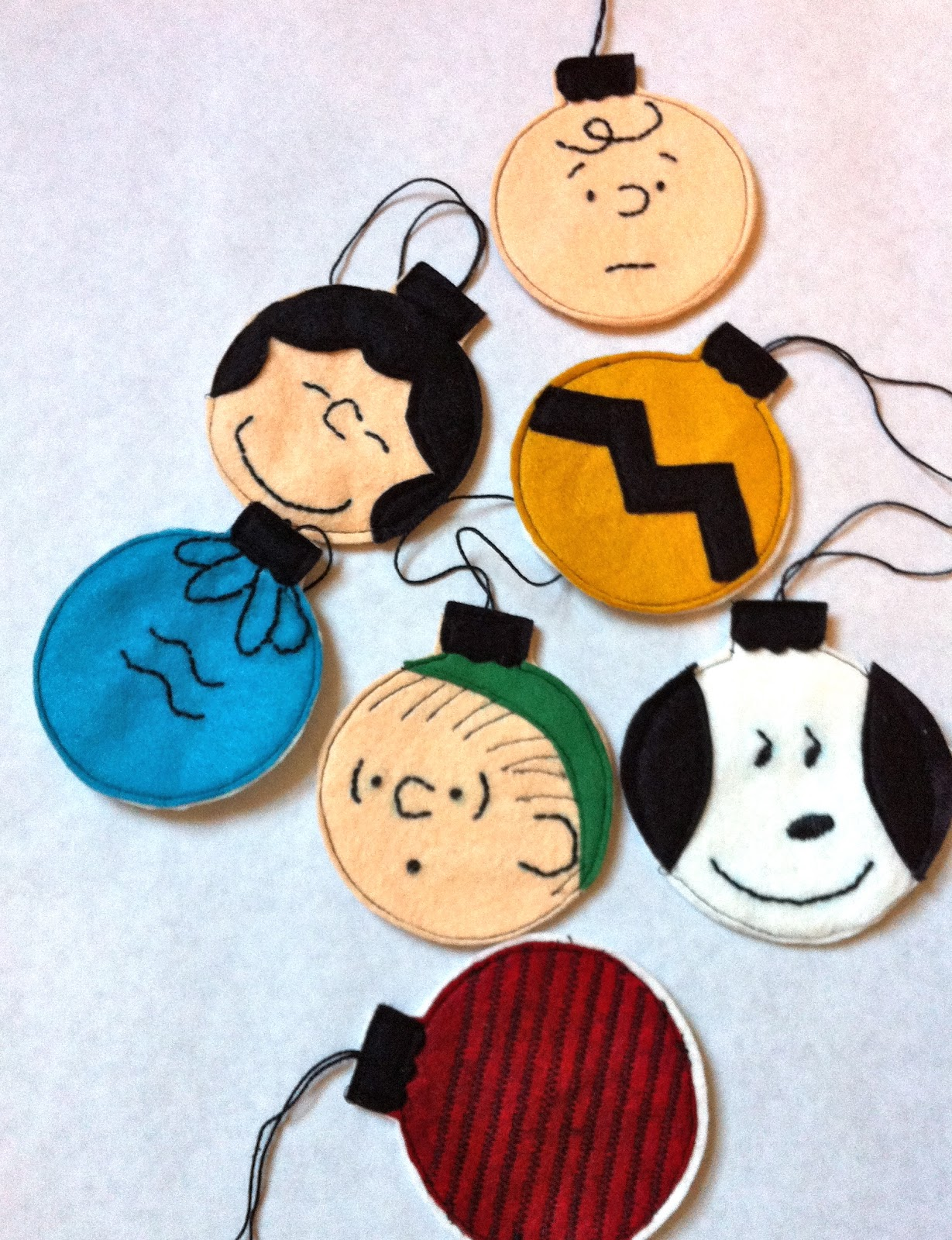 charlie brown christmas ornaments tutorial - Peanuts Christmas Decorations