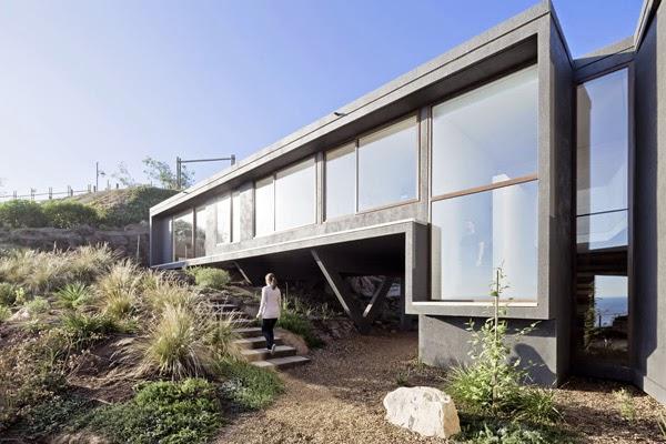 casas minimalistas y modernas casa frente al mar en chile