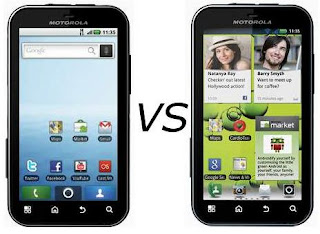 comparison between motorola defy and motorola defy plus