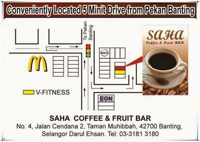 MAKAN MAKAN DI SAHA COFFEE AND FRUIT BANTING