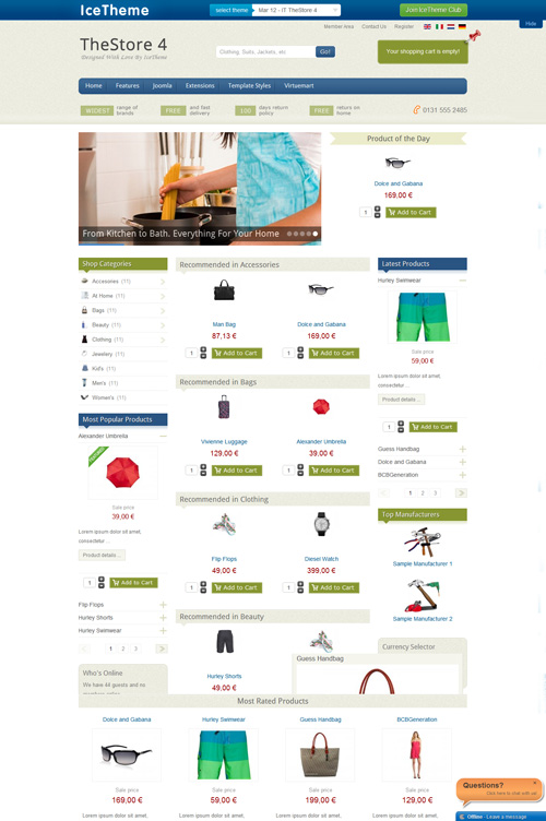 Best Joomla 2.5 Template Store