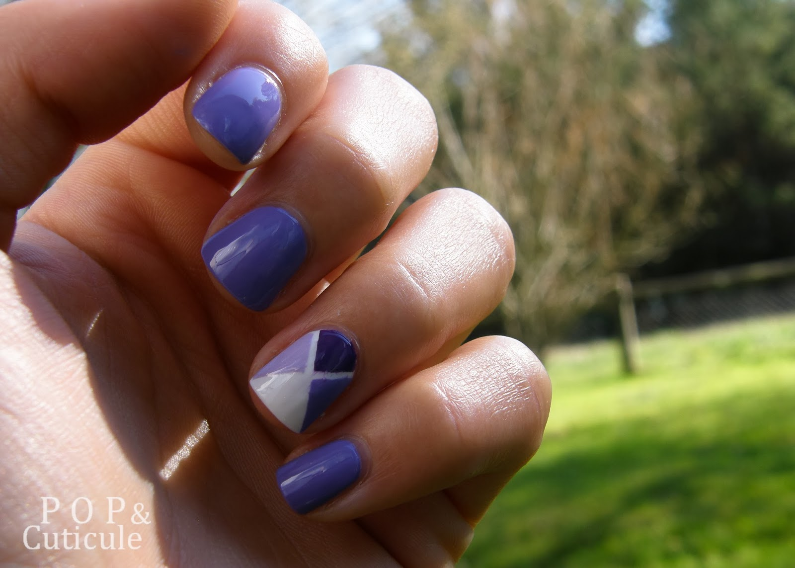 Pop & Cuticule, Striping Tape Tuto, Lavande Esquisse Bourjois