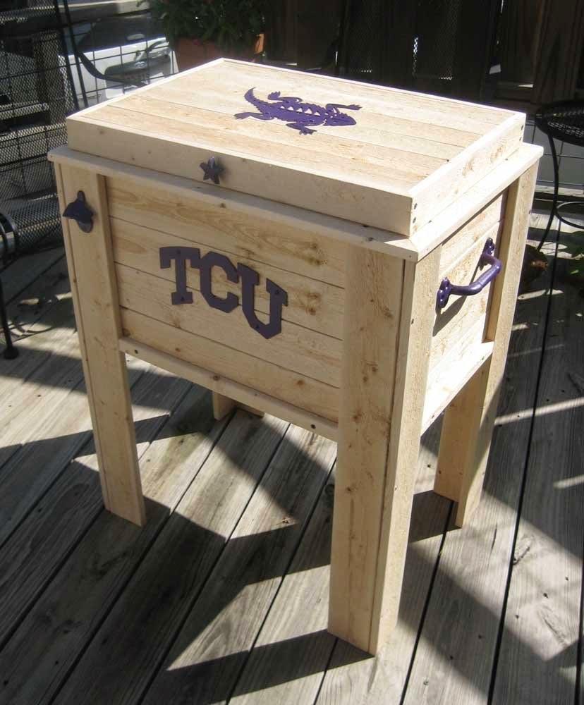 Texas Wooden Cooler Chest