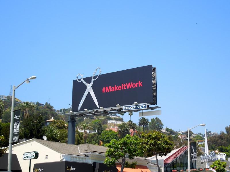 Project Runway Make It Work scissors billboard