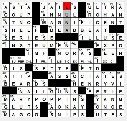 rex parker does the nyt crossword puzzle: law firm employees / thu 7