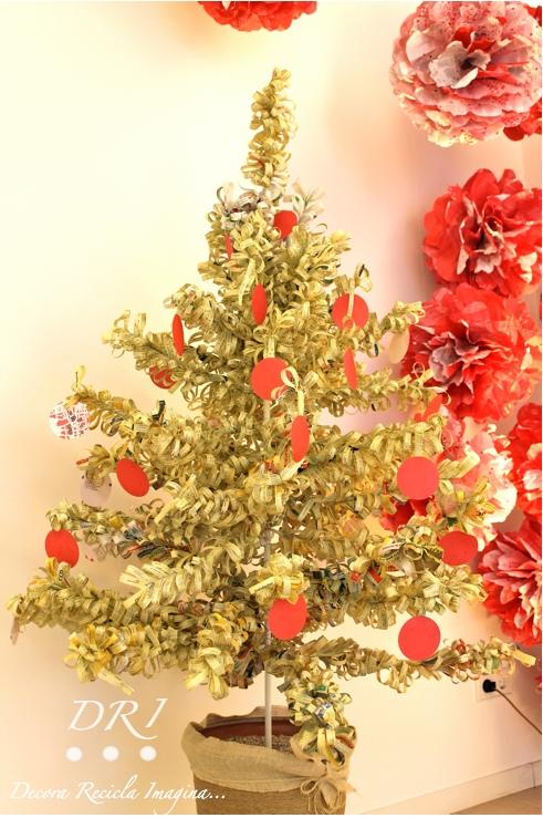 Arbol Navidad Papel Reciclado