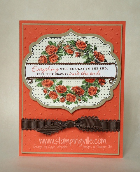 Greeting Card with Apothecary Art Stamp Set by Stampin' Up!