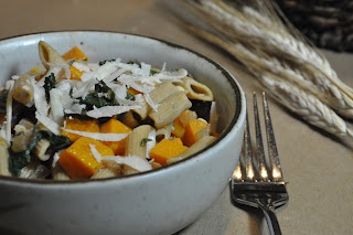 Recipe: Pasta with roasted butternut squash, crispy sage and kale