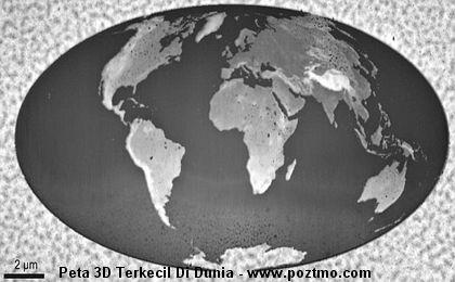 peta 3d terkecil di dunia