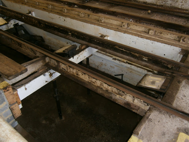 ORIGINAL BTON TRAM TRACK, NOTE SLOTS FOR TIES.