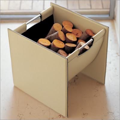 leather firewood log holder
