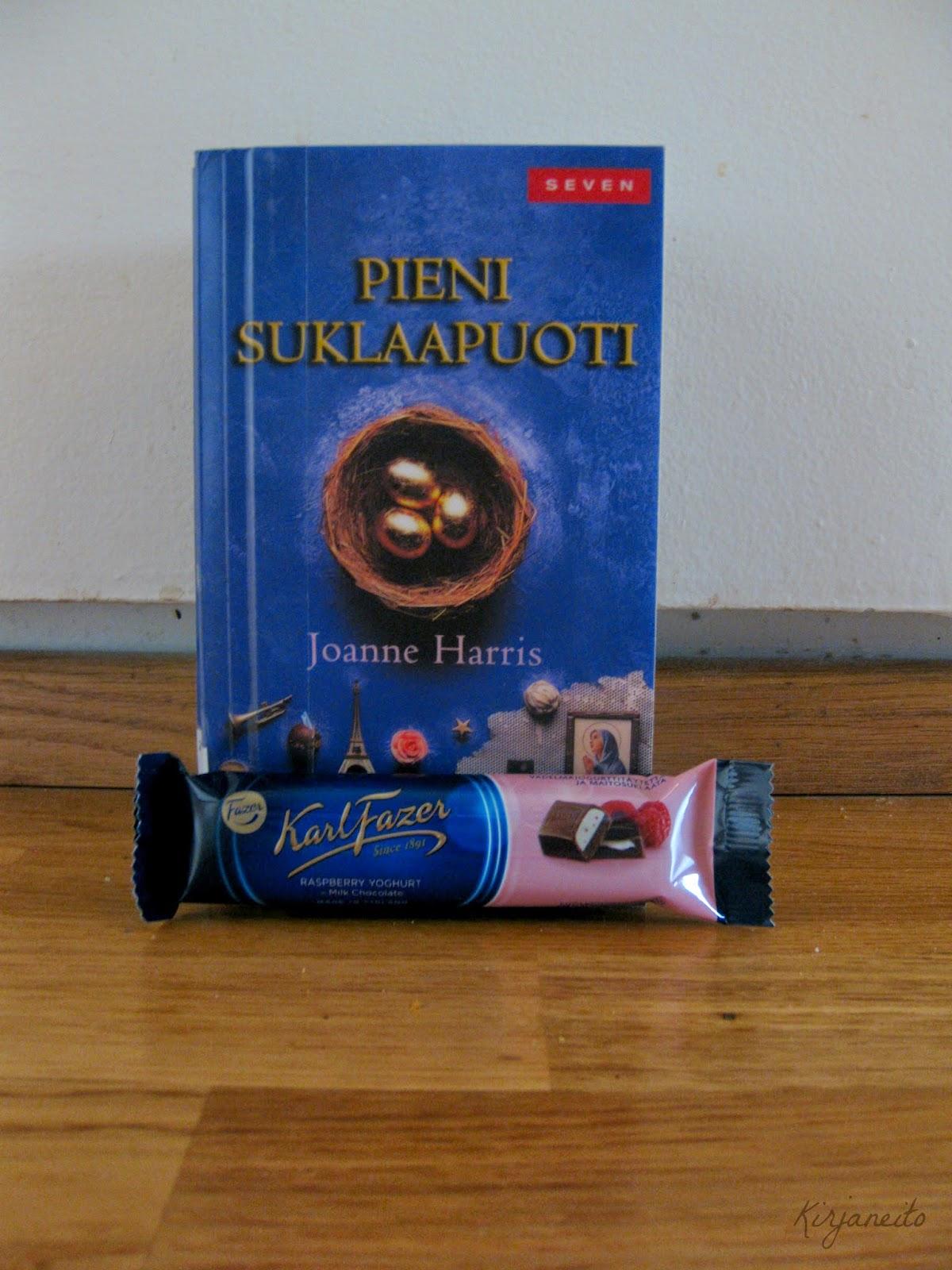 pieni suklaapuoti kirja