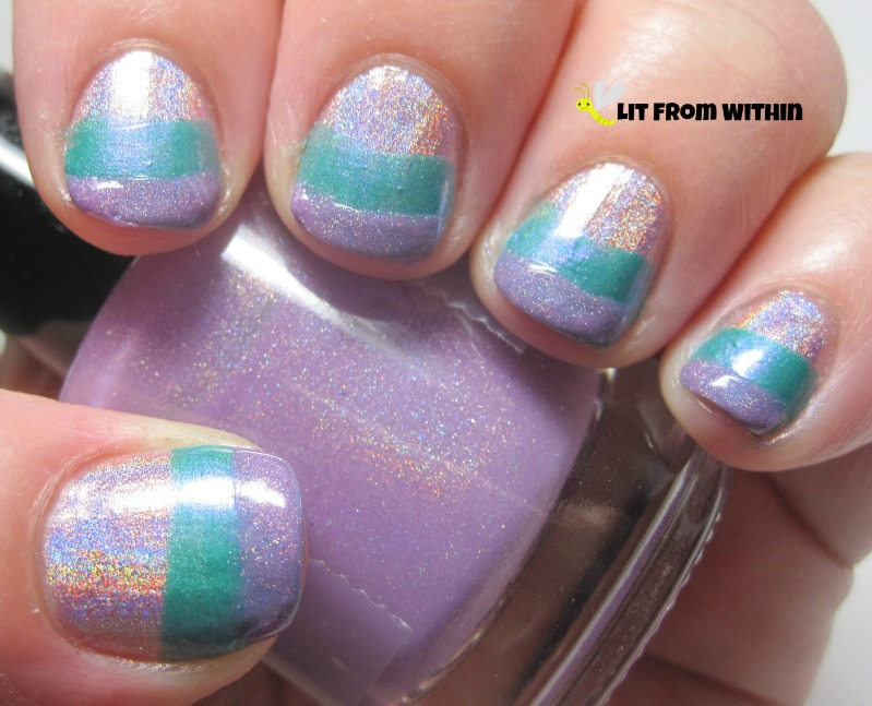 LynBDesigns It's Mauve And Dangerous is a light mauve purple scattered holo