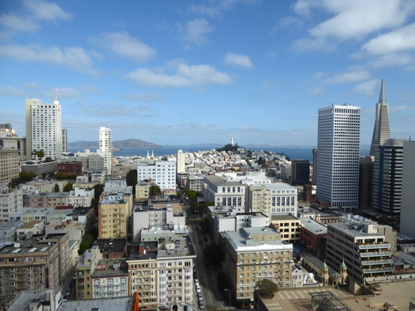 Bay view Grand Hyatt Hotel Union Square SF