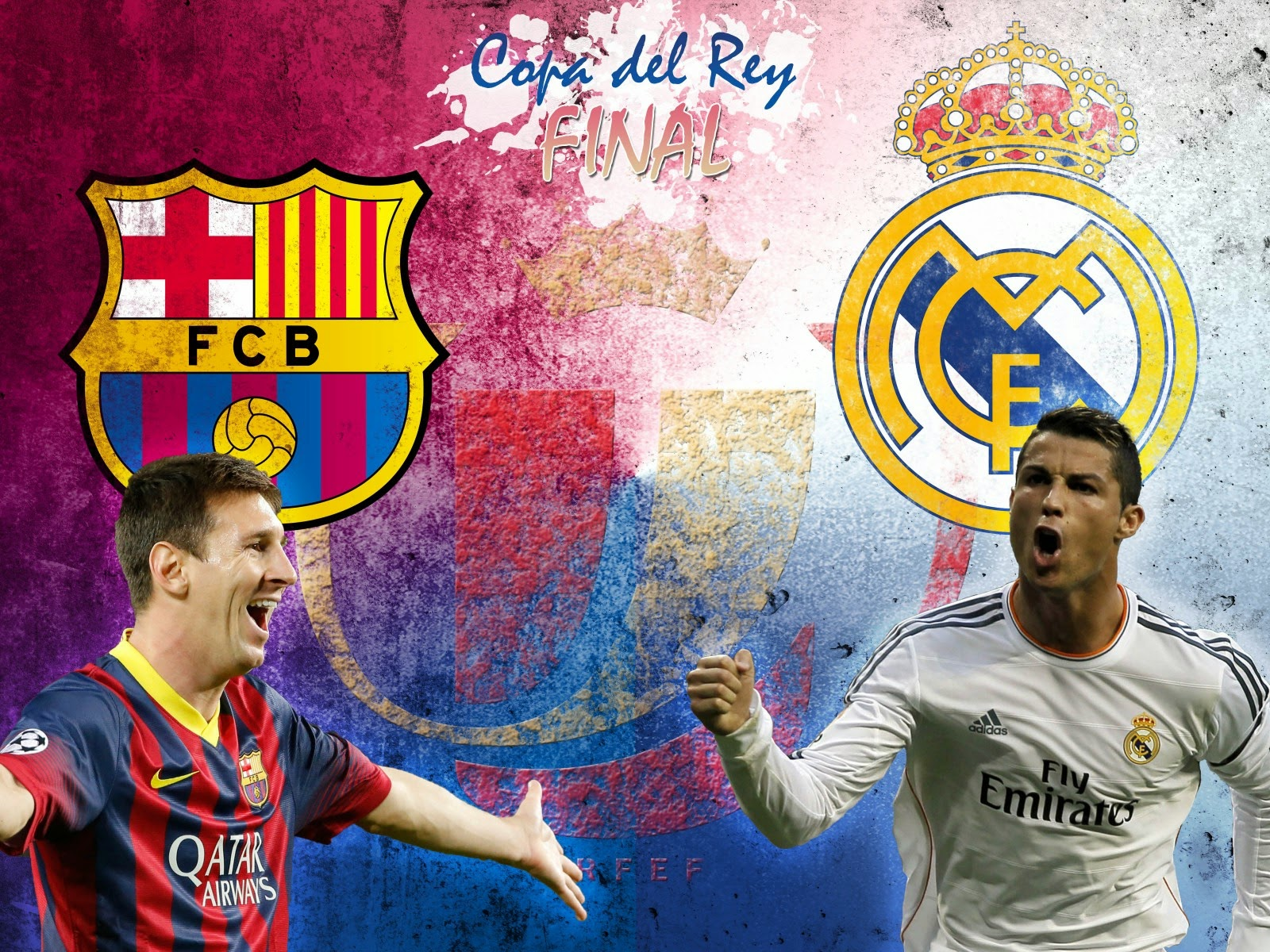 FC Barcelona vs Real Madrid 2014 Copa Del Rey Final Spain HD Desktop Wallpaper