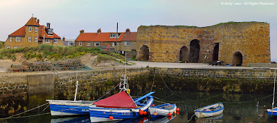 Beadnell Harbour in Northumberland