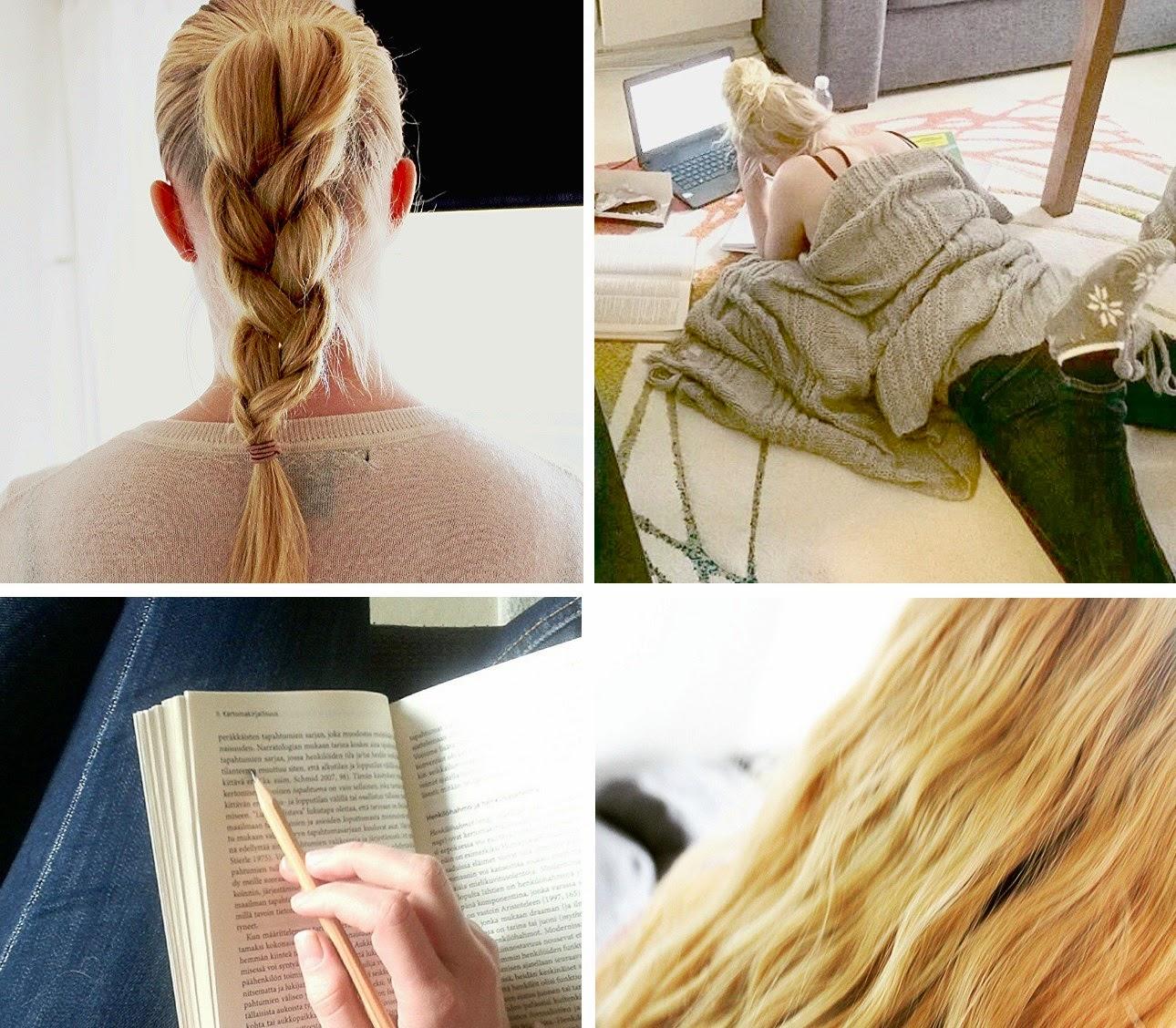 Instagramming, hair&studies   Alinan kotona blog #hair #studies #instagram