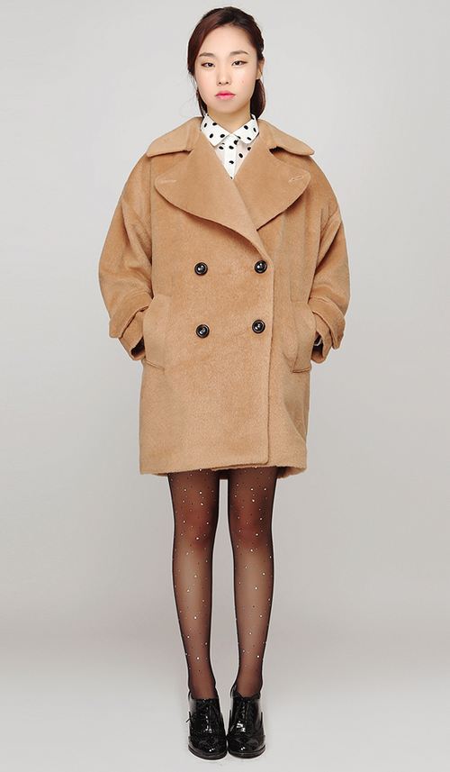 Gossip Girl Wide Collar Soft Touch Coat