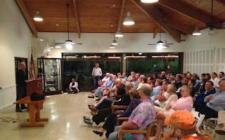 John Kretschmer speaking about his new book at the Coconut Grove Sailing Club