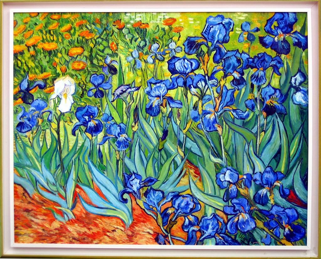 Modern cozy 52 weeks of color for quilters week 19 for Van gogh irises