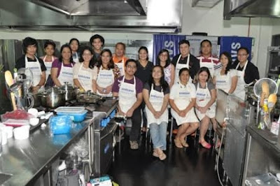 Food bloggers, Mommy bloggers and Lifestyle bloggers from the Philippines with Chef Ernest Gala.