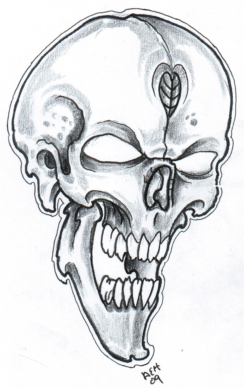 Cool Skull Tattoo Drawings