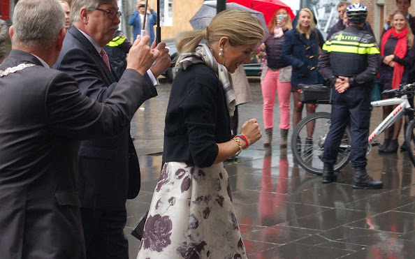 Queen Maxima of the Netherlands attends the induction of Professor Javier A. Couso at the Utrecht University