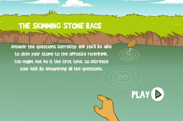 Kids Game : Skim Stones Race