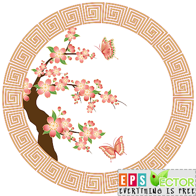 [Vector] - Oriental cherry blossom