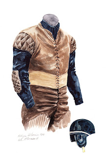 1904 University of Michigan Wolverines football uniform original art for sale