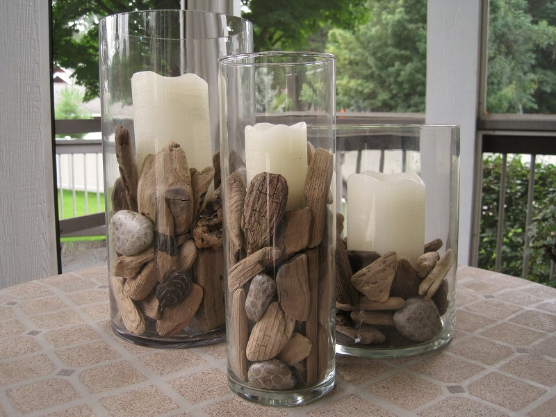 Float interiors for Driftwood centerpiece