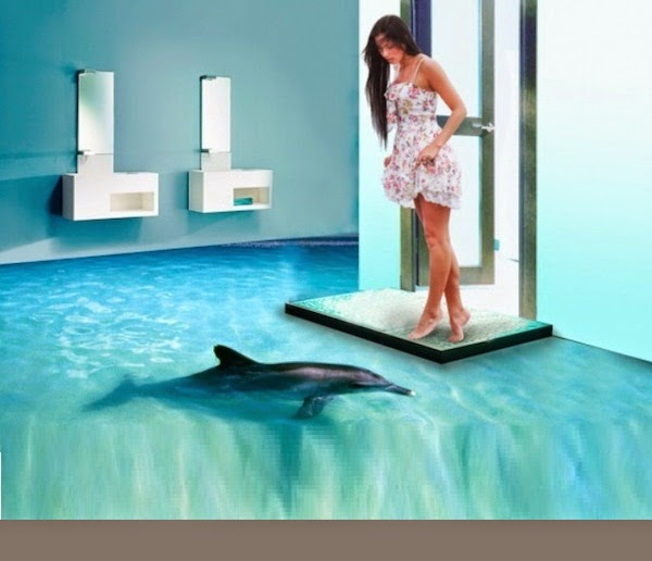 awesome 3d flooring art and 3d bathroom floor murals