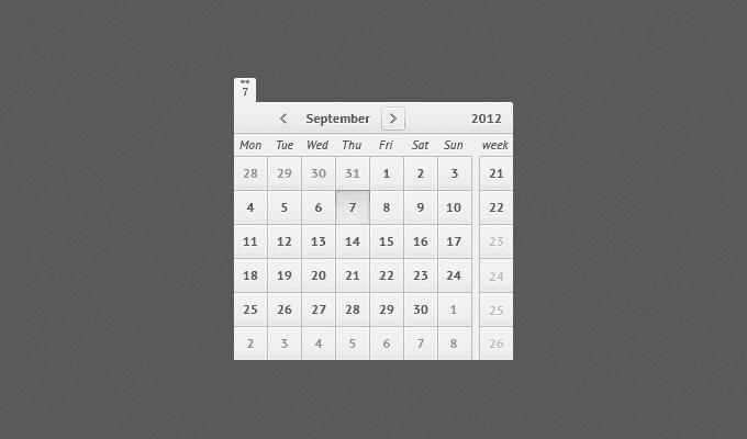 Free Calendar PSD