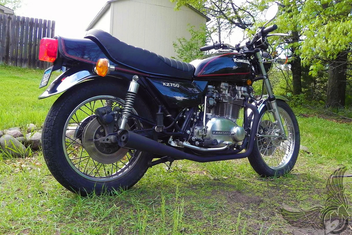 1979 kawasaki kz750 - rear   jeff olsen