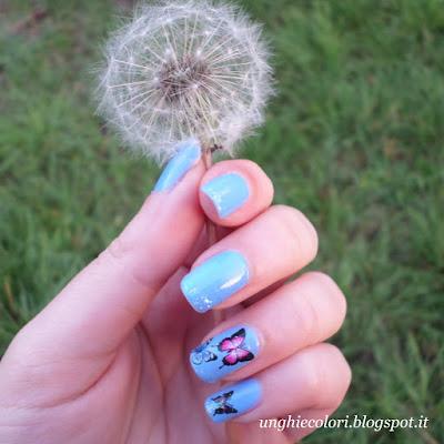 nail art butterlfly