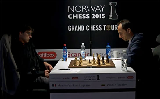 Maxime Vachier-Lagrave 0-1 Veselin Topalov - Photo © site officiel
