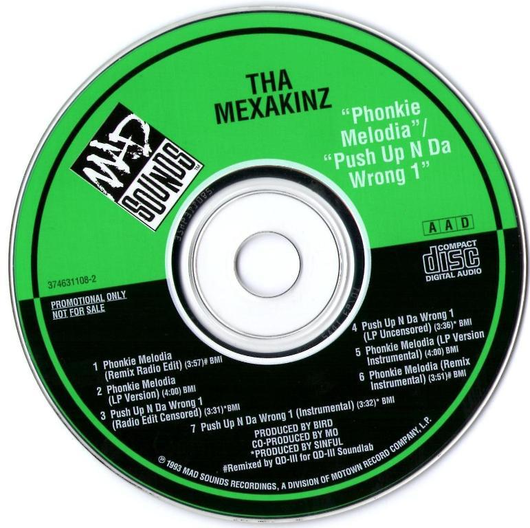 Tha Mexakinz – Phonkie Melodia – CDS – 1993 (192Kbps)
