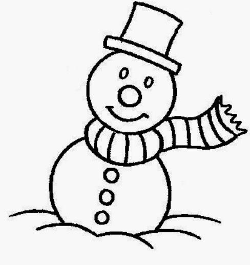 Imagens de bonecos de neve para imprimir e colorir