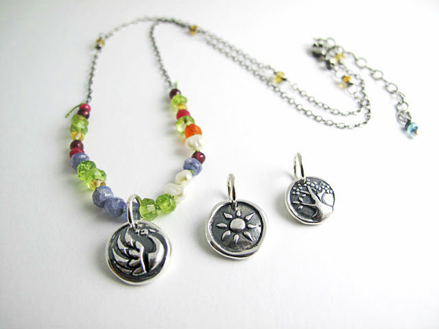room with a view necklace jewelry beth hemmila hint charms sterling silver