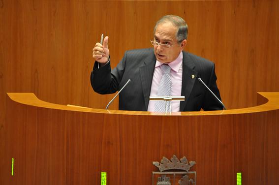 Fernando Rodero en las cortes regionales