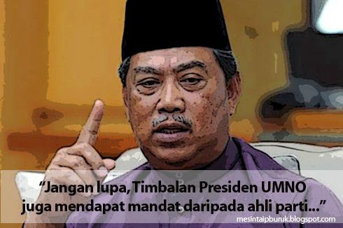 Timbalan Presiden UMNO juga mendapat mandat daripada ahli